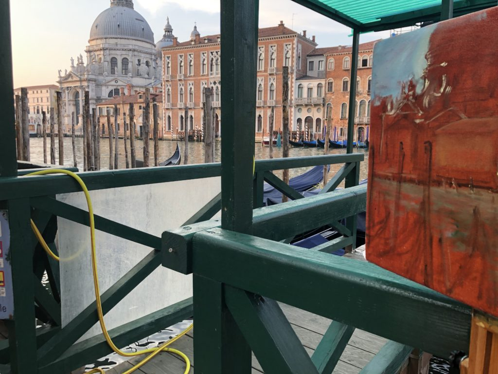 Painting on the Canal in Venice